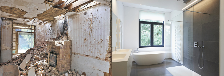 travaux de renovation de salle de bain